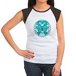 Ovarian Cancer Butterfly Women's Cap Sleeve T-Shir