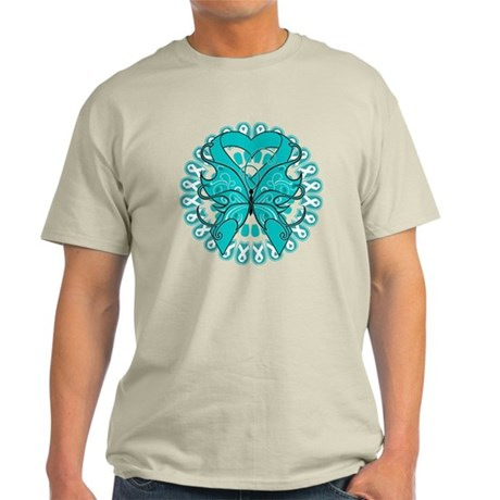 Ovarian Cancer Butterfly Light T-Shirt