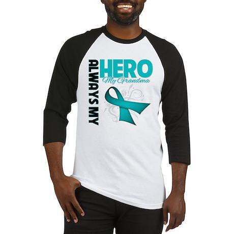 Ovarian Cancer Hero Grandma Baseball Jersey