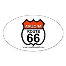 Arizona Route 66 Oval Decal