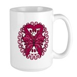 Multiple Myeloma Butterfly Large Mug