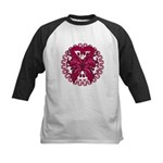 Multiple Myeloma Butterfly Kids Baseball Jersey