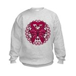 Multiple Myeloma Butterfly Kids Sweatshirt