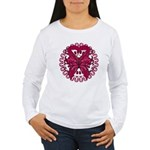 Multiple Myeloma Butterfly Women's Long Sleeve T-S