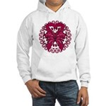 Multiple Myeloma Butterfly Hooded Sweatshirt