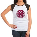 Multiple Myeloma Butterfly Women's Cap Sleeve T-Sh