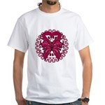 Multiple Myeloma Butterfly White T-Shirt