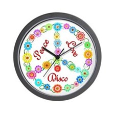 Disco Peace Sign Wall Clock