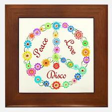 Disco Peace Sign Framed Tile