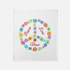 Disco Peace Sign Throw Blanket
