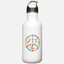 Disco Peace Sign Water Bottle