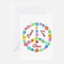 Disco Peace Sign Greeting Card