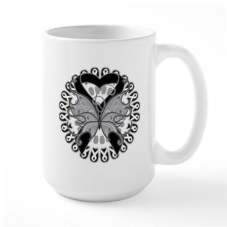 Melanoma Butterfly Large Mug