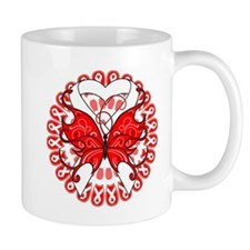Lung Cancer Butterfly Mug