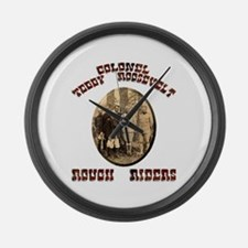 Col Teddy Roosevelt Large Wall Clock