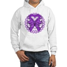 Leiomyosarcoma Butterfly Hoodie