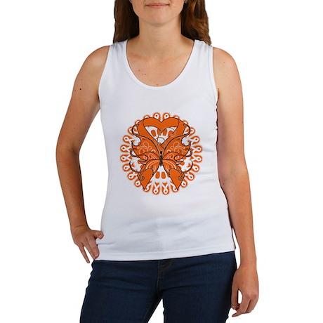 Kidney Cancer Butterfly Women's Tank Top
