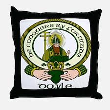 Doyle Clan Motto Throw Pillow