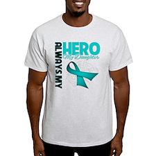Ovarian Cancer Hero Daughter T-Shirt