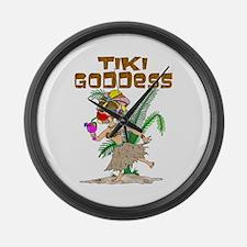 TIKI GODDESS Large Wall Clock