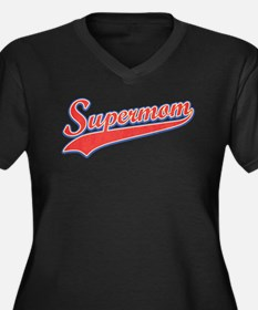 Supermom [vintage red] Women's Plus Size V-Neck Da