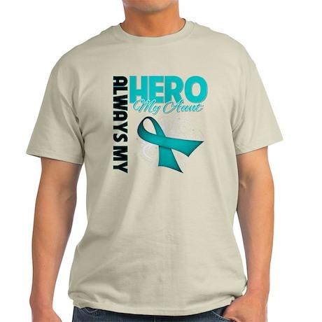 Ovarian Cancer Hero Aunt Light T-Shirt