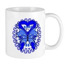 Colon Cancer Butterfly Small Mug