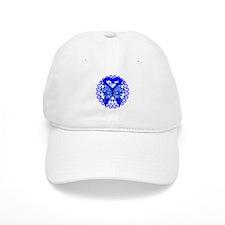 Colon Cancer Butterfly Baseball Cap