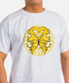 Childhood Cancer Butterfly T-Shirt