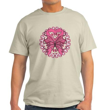 Breast Cancer Butterfly Light T-Shirt