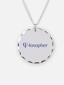 Cute Philosopher Necklace Circle Charm