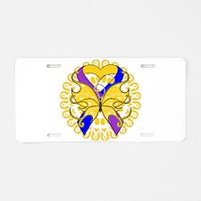 Bladder Cancer Butterfly Aluminum License Plate