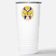 Bladder Cancer Butterfly Travel Mug