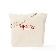 Sinning Tote Bag
