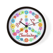 Cheerleading Peace Sign Wall Clock