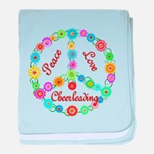 Cheerleading Peace Sign baby blanket