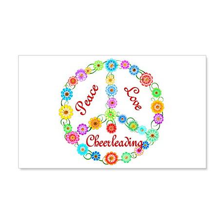 Cheerleading Peace Sign 22x14 Wall Peel
