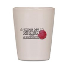Cute Kickball Shot Glass