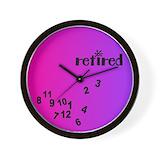 Funny retirement clocks Wall Clocks