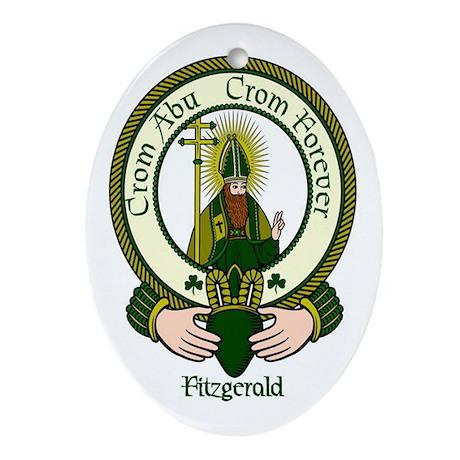 Fitzgerald Clan Motto Oval Ornament