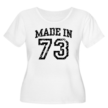 Made in 73 Women's Plus Size Scoop Neck T-Shirt