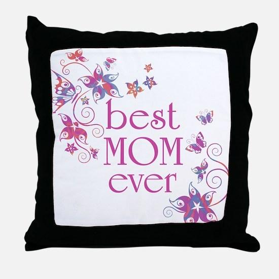 Best Mom Ever 3 Throw Pillow