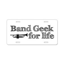 Trumpet Band Geek Aluminum License Plate