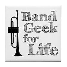 Trumpet Band Geek Tile Coaster