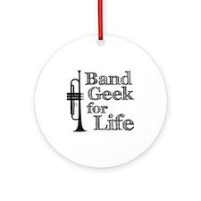 Trumpet Band Geek Ornament (Round)