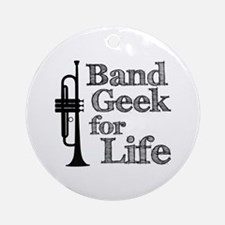 Trumpet Band Geek Ornament (Round)