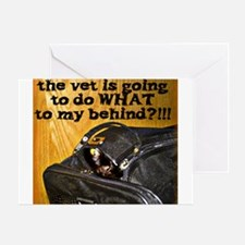 Kitty at Vet's Greeting Card