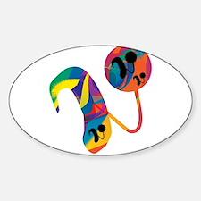 Cute Hearing loss Sticker (Oval)