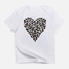 Leopard Print Heart Infant T-Shirt