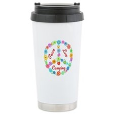 Camping Peace Sign Travel Mug